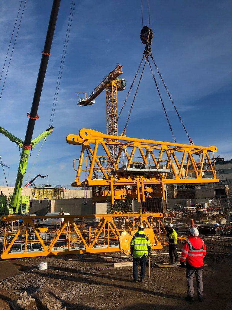 Kranelement i Skövde Skaraborgs sjukhus Potain Cranes