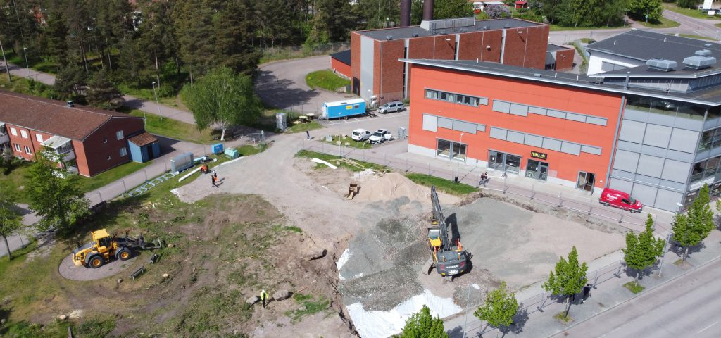 Byggnationen är igång på tomten för Lecab Plaza