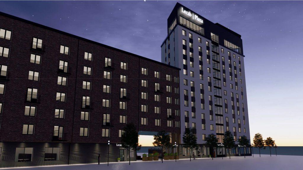 Nya studentboendet Lecab Plaza i Karlstad. Illustration: